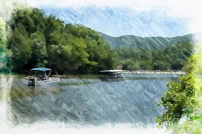 Mixed Media - Lake Lure North Carolina United States by Bob Pardue