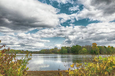Photograph - Lake Luxembourg In Autumn by William Jobes