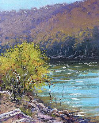Nature Scene Painting - Lake  Lyell Reflections by Graham Gercken