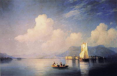 Lake Painting - Lake Maggiore In The Evening by MotionAge Designs