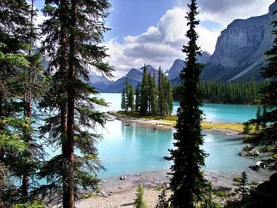 Photograph - Lake Maligne And Spirit Island by George Cousins