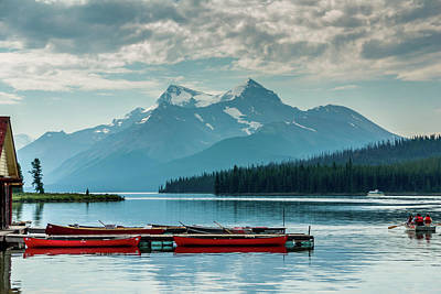 Photograph - Lake Maligne by Robert Caddy