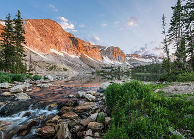 Photograph - Lake Marie Sunrise by Aaron Spong