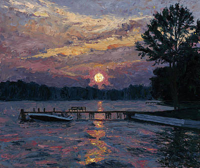Lake Martin Sunset Print by Tyler Smith