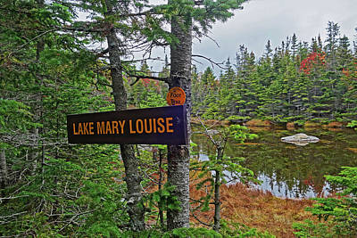 Photograph - Lake Mary Louise Adirondacks Trail Keene Valley Ny by Toby McGuire