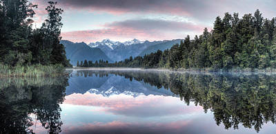 Photograph - Lake Matheson Panorama by Brad Grove
