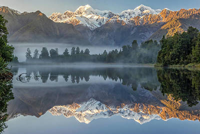 Photograph - Lake Matheson Reflection 2 by Martin Capek