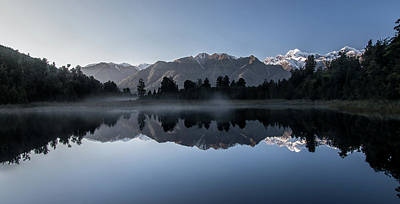 Photograph - Lake Matheson Reflection 3 by Martin Capek