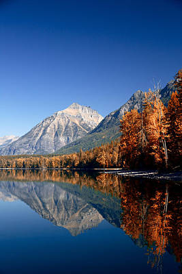 Lake Mcdonald Autumn Art Print