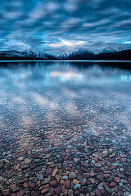 Lake Mcdonald Calm, Glacier National Park Art Print