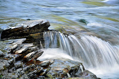 Photograph - Lake Mcdonald Creek Cascade 02 by Bruce Gourley
