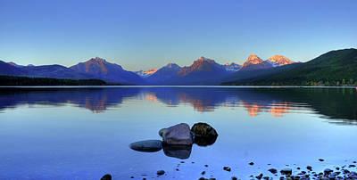 Lake Mcdonald Print by Dave Hampton Photography