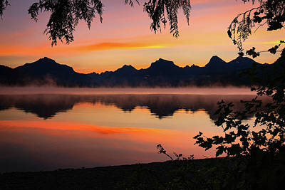 Photograph - Lake Mcdonald by Jeff Handlin