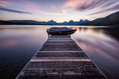 Apgar Photograph - Lake Mcdonald Morning by Matt Hammerstein