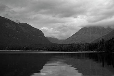 Photograph - Lake Mcdonald Reflection Black And White by Bruce Gourley