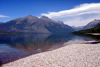 Lake Mcdonald Reflection Glacier National Park 4 Art Print by Marty Koch