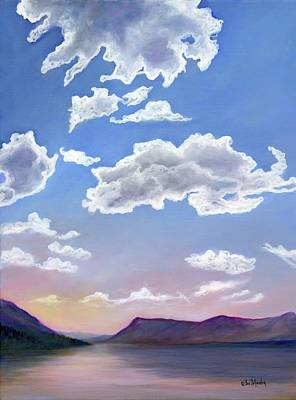Mcdonalds Painting - Lake Mcdonald Sky by Eve  Wheeler
