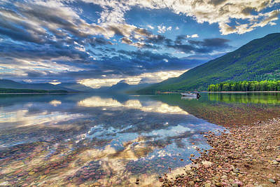 Photograph - Lake Mcdonald Sunrise by Spencer McDonald