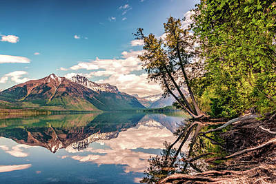 Photograph - Lake Mcdonald Valley by Maria Coulson