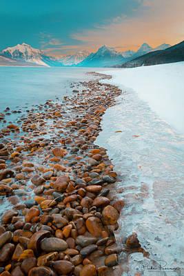 Apgar Photograph - Lake Mcdonald Winter by Blake Passmore