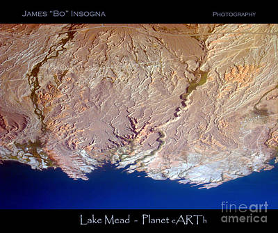 Comedian Drawings - Lake Mead - Planet Art by James BO Insogna