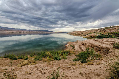Photograph - Lake Mead Reflections by Margaret Pitcher