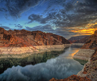 Photograph - Lake Mead Sunrise by Stephen Campbell