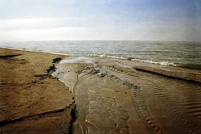 Photograph - Lake Michigan And Pier Cove Creek  2.0 by Michelle Calkins
