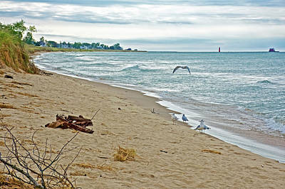Photograph - Lake Michigan At North Beach Park In Ottawa County, Michigan  by Ruth Hager