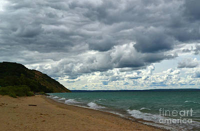 Photograph - Lake Michigan Dunes by Amy Lucid