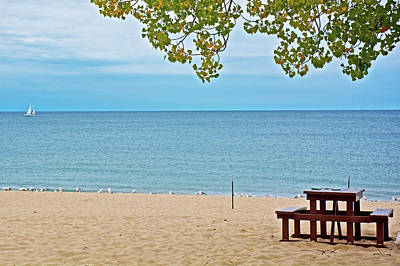 Photograph - Lake Michigan From North Beach Park In Ottawa County, Michigan  by Ruth Hager