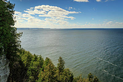 Photograph - Lake Michigan From The Cliffs by Joni Eskridge