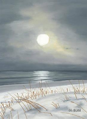 Pastel - Lake Michigan by George Burr