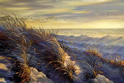 Painting - Lake Michigan In Winter by Valentin Katrandzhiev