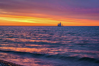 Photograph - Lake Michigan Matins by Bill Pevlor