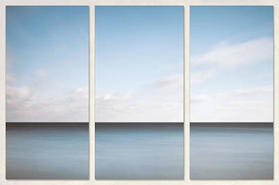 Royalty-Free and Rights-Managed Images - Lake Michigan Minimalist Triptych by Scott Norris