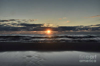 Waukegan Photograph - Lake Michigan Sunrise by Birgit Tyrrell