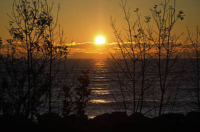 Photograph - Lake Michigan Sunrise by Susan McMenamin