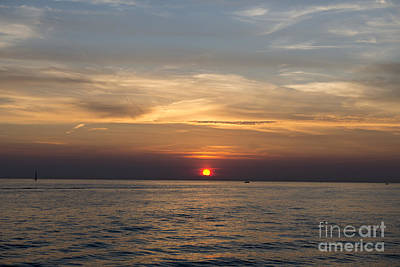 Photograph - Lake Michigan Sunset by David Arment
