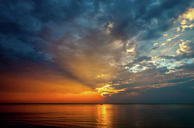 Photograph - Lake Michigan Sunset by Matthew Chapman