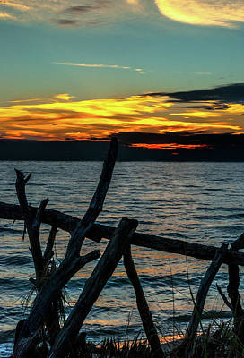 Photograph - Lake Michigan Sunset by Optical Playground By MP Ray