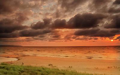 Photograph - Lake Michigan Sunset by Thomas Pettengill