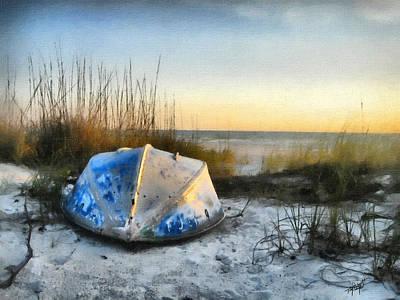 Tom Schmidt Painting - Lake Michigan Sunset by Tom Schmidt