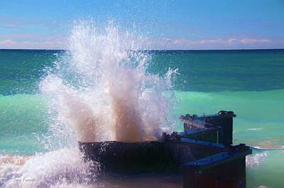 Digital Art - Lake Michigan Wave Crash by Trey Foerster