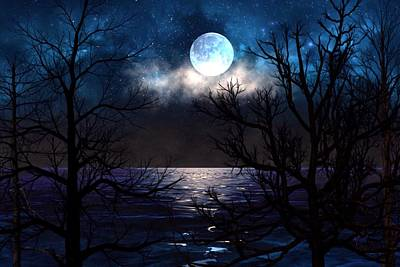 Painting - Lake Midnight by Mark Taylor