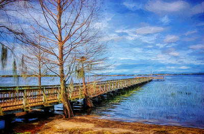 Photograph - Lake Minneola Pier by Lewis Mann