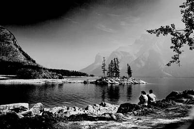 Painting - Lake Minnewanka, Canada 4 by Celestial Images