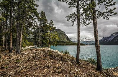 Photograph - Lake Minnewanka by Karl Anderson