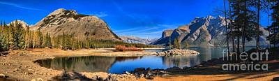 Photograph - Lake Minnewanka Panorama by Adam Jewell