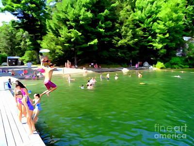 Photograph - Lake Minnewaska Swimming #3 by Ed Weidman